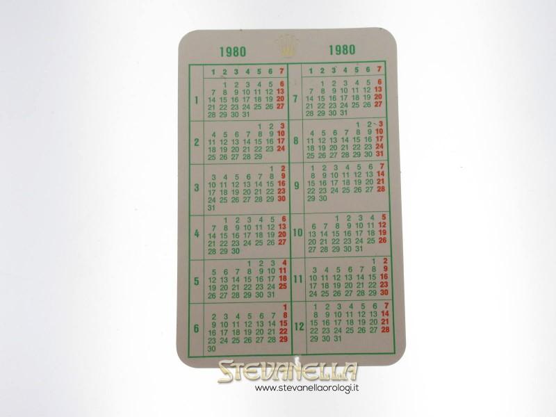 Calendario Anno 1980.Calendario Rolex Anno 1980 Originale