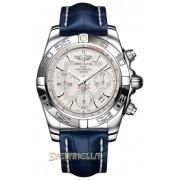 Breitling Chronomat 41 ref. AB014012/G711/718P bianco nuovo full set