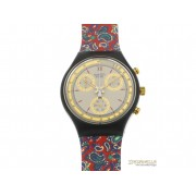 SWATCH Award chrono quarzo cassa e cinturino plastica colorata new
