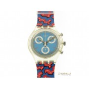 SWATCH Wild Card chrono quarzo cassa e cinturino plastica colorata new