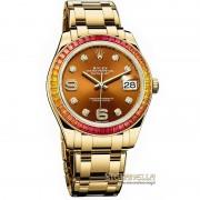 Rolex Datejust Masterpiece Pearlmaster ref. 86348SAJOR oro giallo 18t nuovo