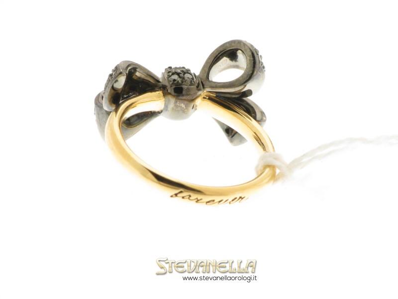 nuovi arrivi l'ultimo ultimo POMELLATO anello Forever oro rosa e diamanti neri ref.A.A801/O6/BB new