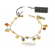 PASQUALE BRUNI bracciale Charms oro giallo smalti e diamanti ref. 12044