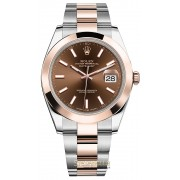 Rolex Datejust 41mm ref. 126301 Oyster Chocolate nuovo full set
