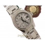 Rolex Datejust Ladies ref. 179384 Oyster Goldust diamanti nuovo full set