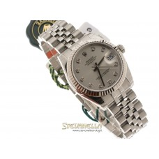 Rolex Datejust 31mm ref. 178274 Silver Diamanti Jubilee nuovo full set
