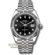 Rolex Datejust 2 41mm ref. 126334 Jubilee nero diamanti nuovo full set