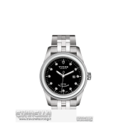 Tudor Glamour Date 31mm ref. 53000 nero diamanti nuovo full set