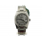Rolex Datejust Silver Romani 36mm ref. 116200 Oyster nuovo full set