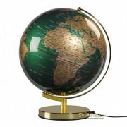 """Wild & Wolf Fir Green & Brass 12"""" Globe"""