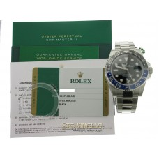 Rolex Gmt Master 2 Black/Blue 116710 BLNR Batman nuovo full set