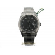 Rolex Datejust 2 ref. 116334 Oyster Rhodium Diamond nuovo full set