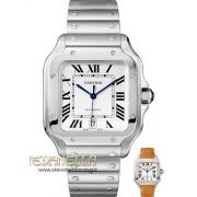 Cartier Santos Large model ref. WSSA0009 silver nuovo full set