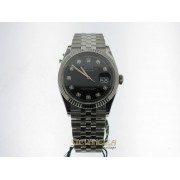 Rolex Datejust 36mm nero Diamanti ref. 126234 jubilee nuovo full set