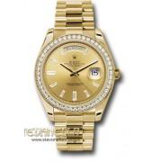 Rolex Day-Date 40 Champagne diamanti ref. 228348RBR President oro giallo 18kt nuovo