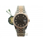Rolex Datejust 36mm Chocolate diamanti ref. 126231 jubilee nuovo