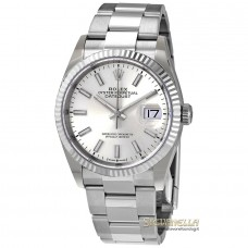 Rolex Datejust 36mm Silver index ref 126234 Oyster nuovo