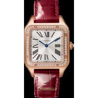 Cartier Santos Dumont Large Diamond ref. WJSA0016 oro rosa 18kt nuovo