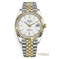 Rolex Datejust 41mm ref. 126333 Jubilee bianco nuovo