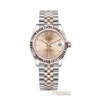 Rolex Datejust 31 rosa indici ref. 278271 jubilee nuovo