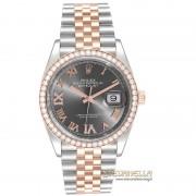 Rolex Datejust 36 Rhodium diamanti ref. 126281RBR Jubilee nuovo