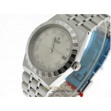 Tudor Royal 34mm silver romani ref. 28400-0001 nuovo