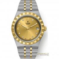 Tudor Royal 34mm champagne diamanti ref. 28403-0006 nuovo