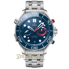 Omega Seamaster Diver 300m America's Cup Chronograph ref. 210.30.44.51.03.002 nuovo