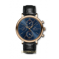 IWC Portofino Chronograph Blue dial rose gold 18kt ref. IW391035 nuovo